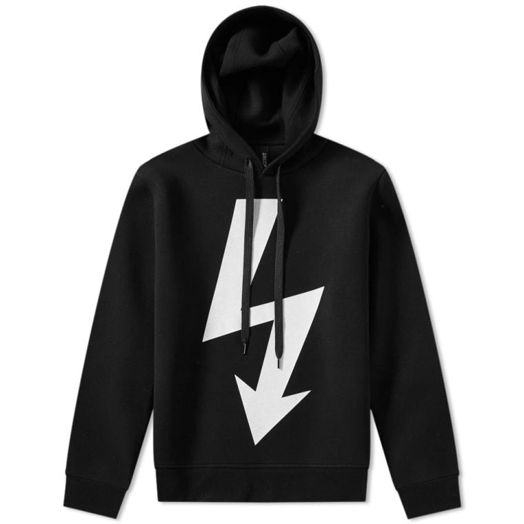 Hoody Black 1 White Side Lightning Large Neil Bolt Zip Barrett amp; wHqPYUOg