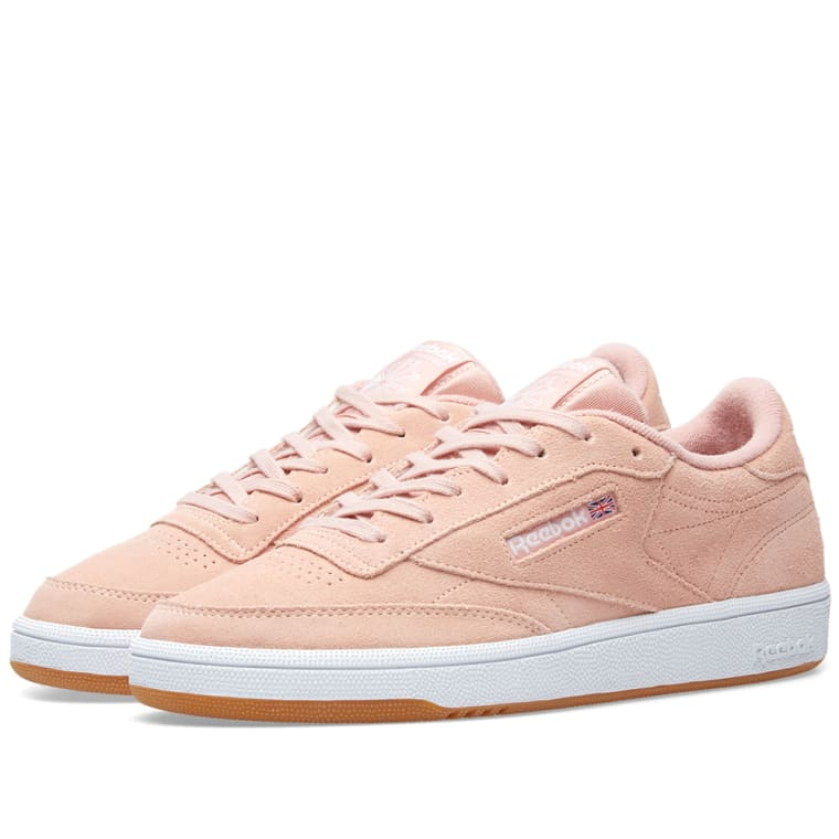 C Suede Reebok amp; W 85 White Club Twist Gum peach End 6qxRx5FUwt