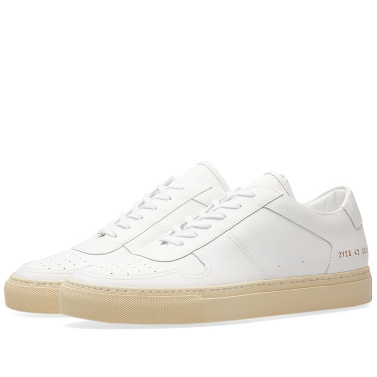 Common Projects White B-Ball Low Sneakers jQOT48pq