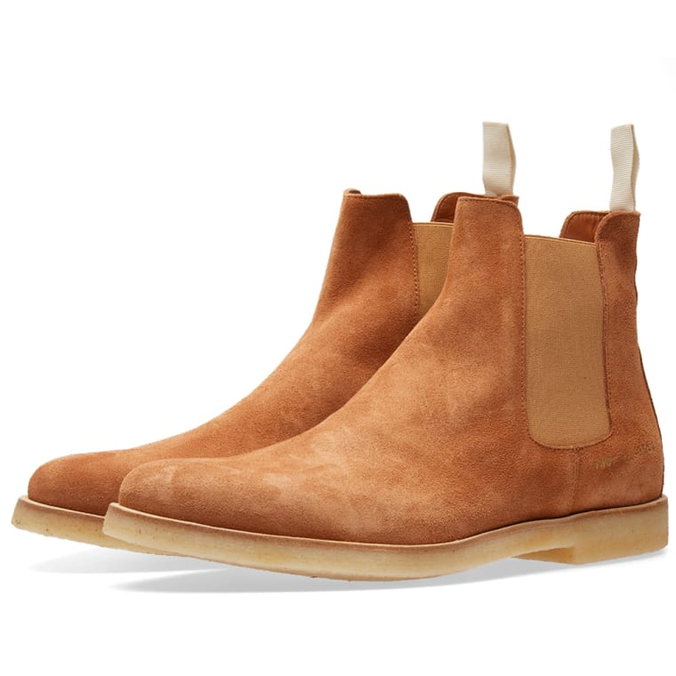 100% Authentic Clearance Visit New COMMON PROJECTS Tan Waxed Suede Chelsea Boots YsRAiIII