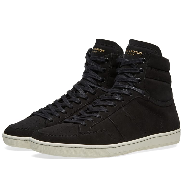 Saint Laurent Black & White SL/10 High-Top Sneakers Ht0ZSFzI