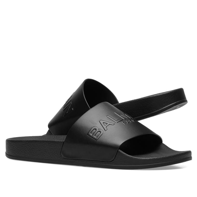 Balmain Leather Slides Hs5HI