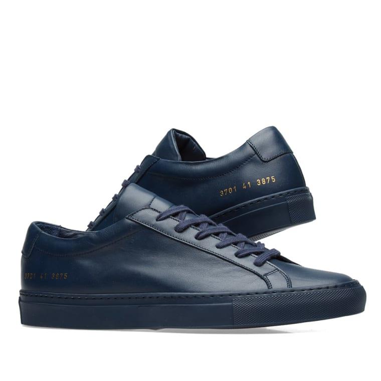 Navy Original Achilles sneaker Common Projects fAt3Q