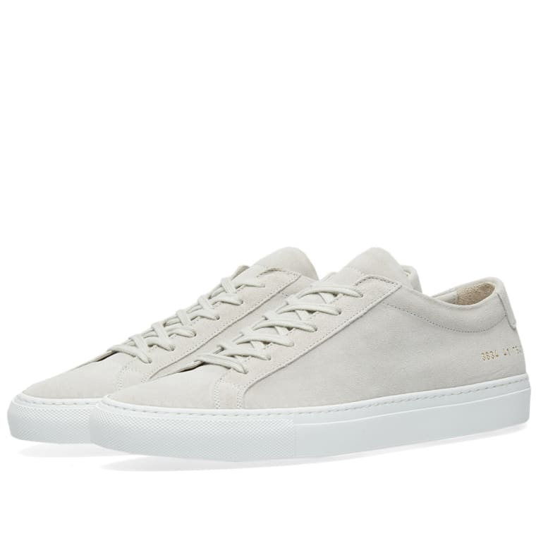Woman by Common Projects Grey Suede Original Achilles Low Sneakers z0fwo7DA