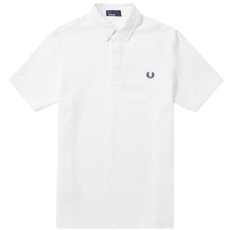 Fred Perry Textured Collar Pique Shirt yCm9uQ2