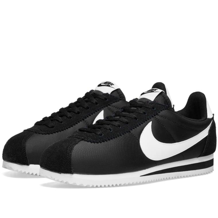 amp; End White black Classic Nike Nylon Cortez Og 1XH0xgU