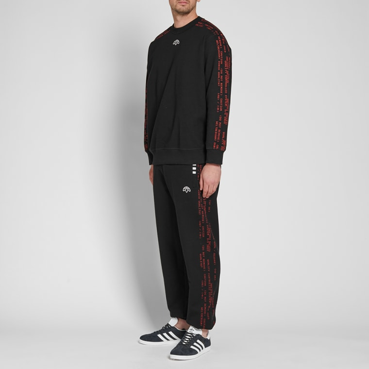 Alexander amp; By black Adidas End Crew Sweat Wang Red Originals WPnncE