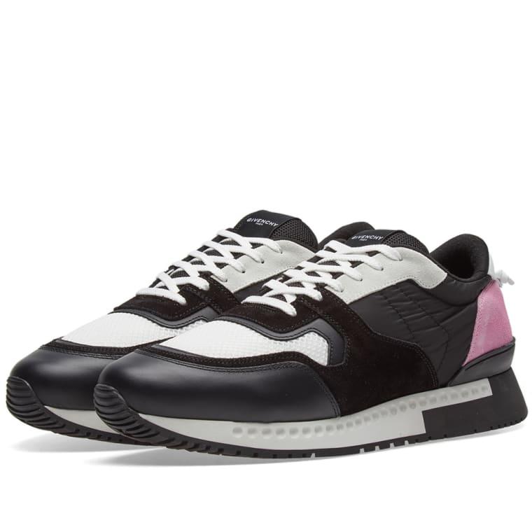 Raf Simons Pink & Black Active Runner Sneakers
