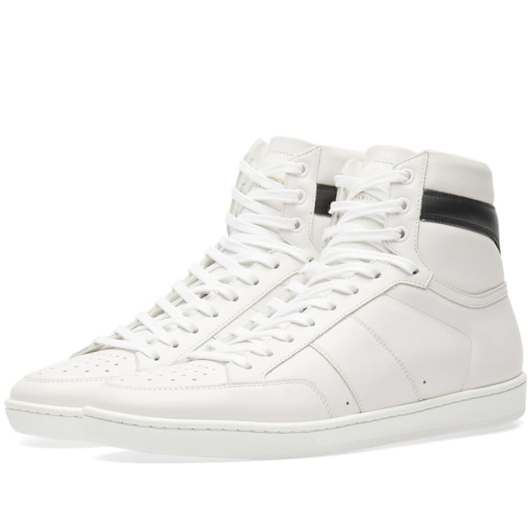 Saint Laurent Black & White SL/10 High-Top Sneakers qDMZeQCdF