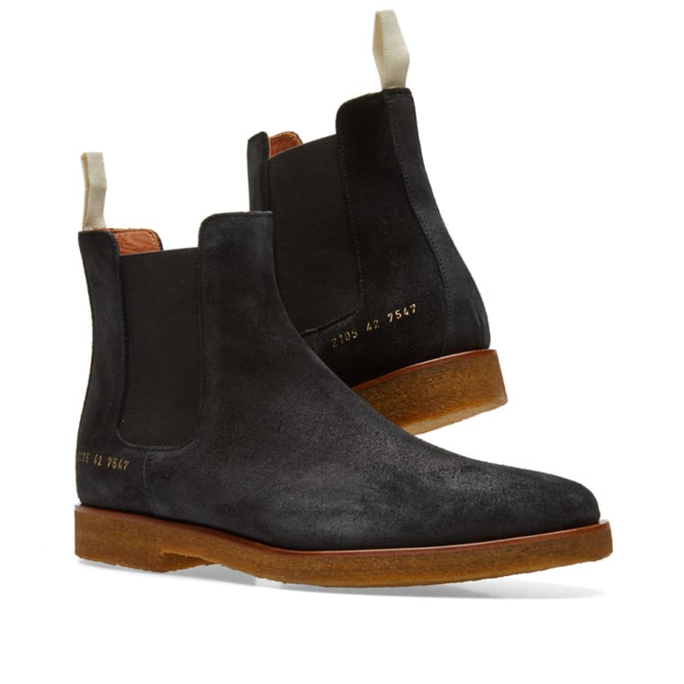 Common Projects Black Suede Chelsea Boots uxh4p0L