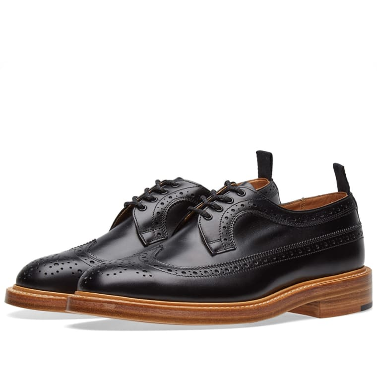 Brogue Shoes On Sale, Navy Blue, Leather, 2017, 10 Trickers