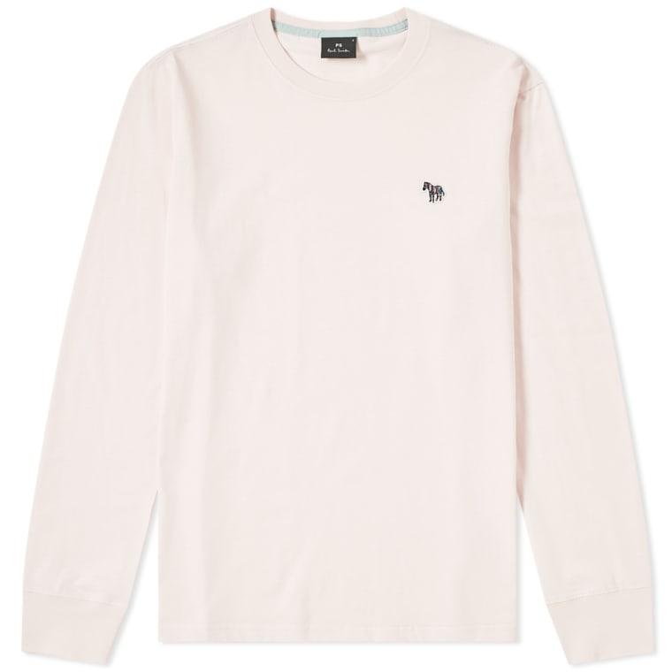 de cebra pálido de 1 Smith Paul rosa larga de manga Camiseta qUInwTXw