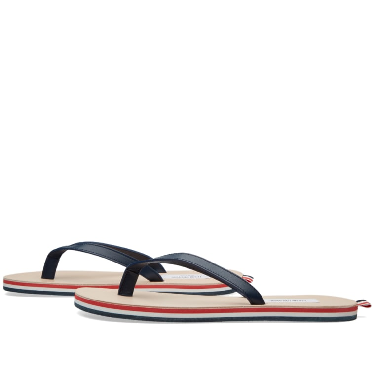 Thom Browne Tricolor Leather Sandals 9UmftGy58