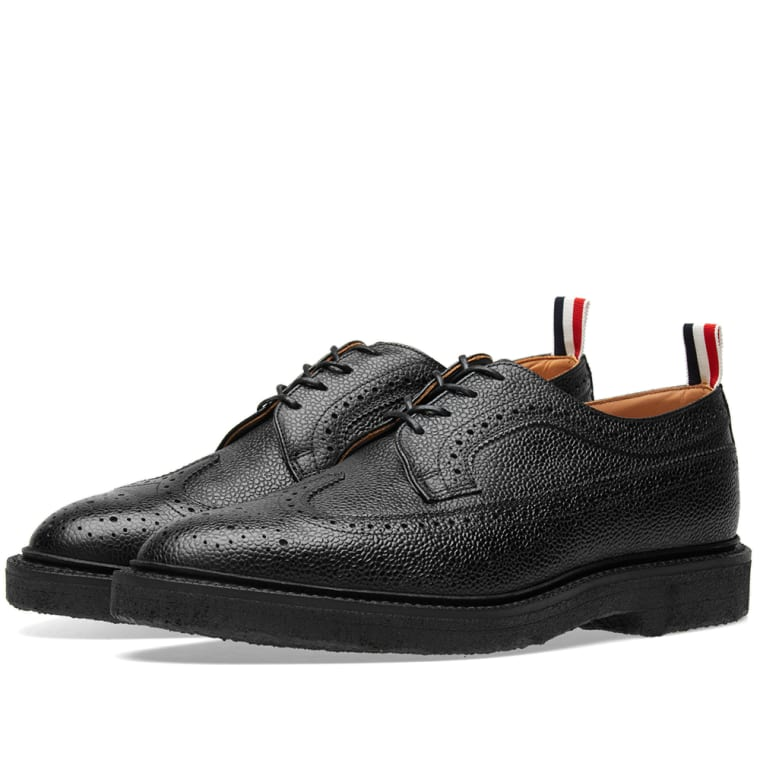 longwing brogues shoes - Black Thom Browne Outlet Real For Sale Cheap Price From China Cheap Prices Authentic For Sale cA9b1