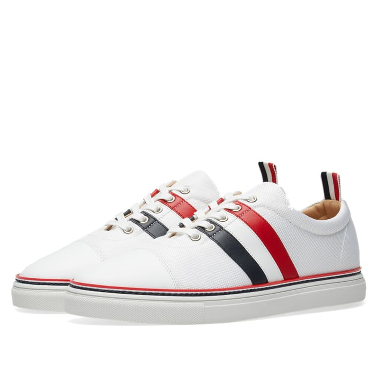 striped sneakers - White Thom Browne Best Store To Get Sale Online Free Shipping Shop Cheap Best Prices Outlet With Mastercard UiQB4