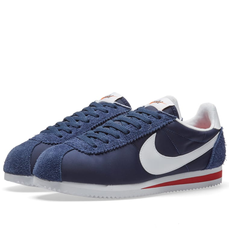 amp; Premium midnight Varsity Nylon Cortez Classic White End Red Nike qnpBYaY
