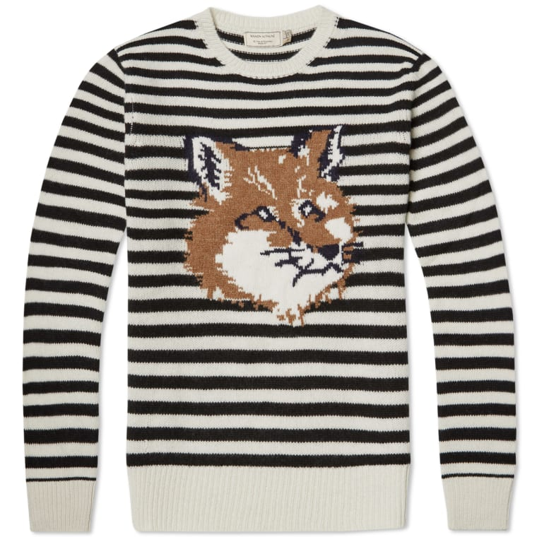 Maison Kitsuné Striped long-sleeve sweater 36OT4jC