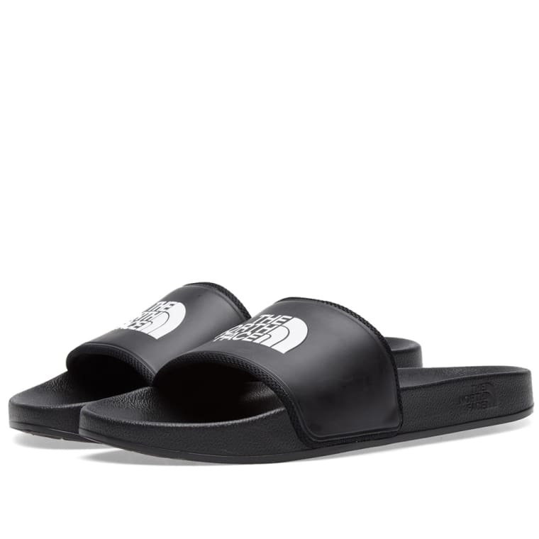 The North Face BASE CAMP SLIDE II - Pool sliders - black/white ouJolat