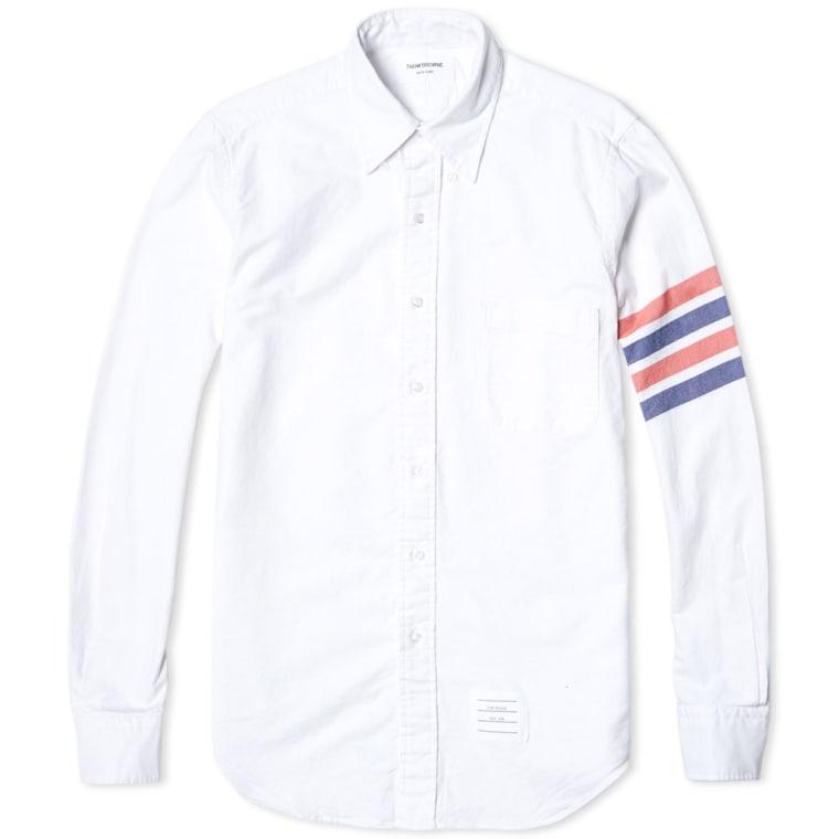 striped sleeve shirt - White Thom Browne Pre Order 6T8J74JWuv
