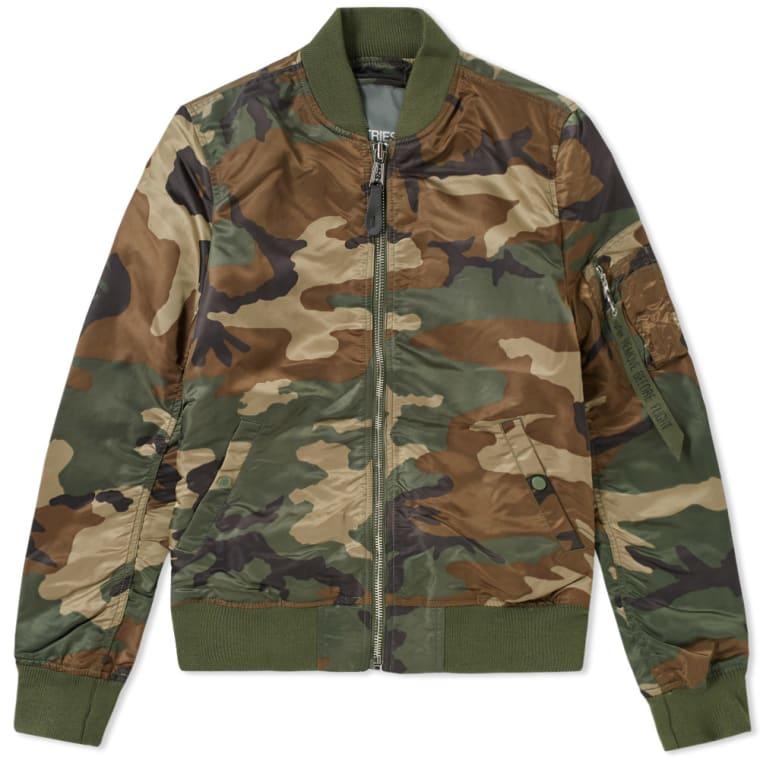 Lw 1 Alpha Bomber Camo amp; Ma Jacket Chrome Industries woodland Vf 7fqEwnIWE