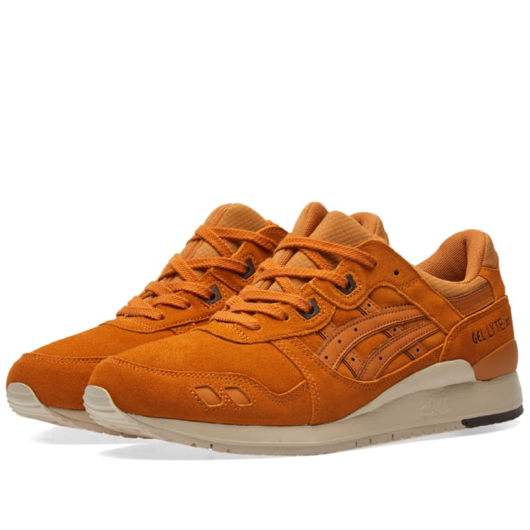 Asics Lifestyle Men's Gel-Lyte III Trainers - Honey Ginger - UK 7 TIZut