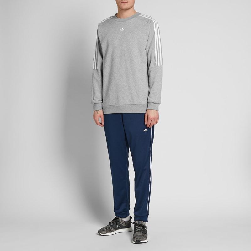Sweat Radkin medium End Grey Adidas Crew Heather 871nRAZ