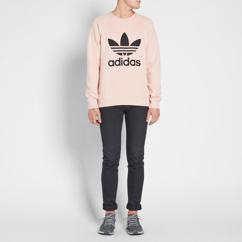 a22cd116 Trefoil Pink Adidas Original vapour Sweat End Crew zFFfU8nq