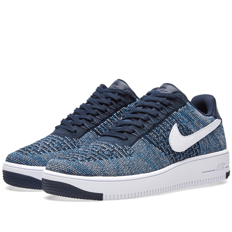 Mens Air Force 1 07 Low-Top Sneakers, Blue (Obsidian/Obsidian-White 400), 6 UK Nike