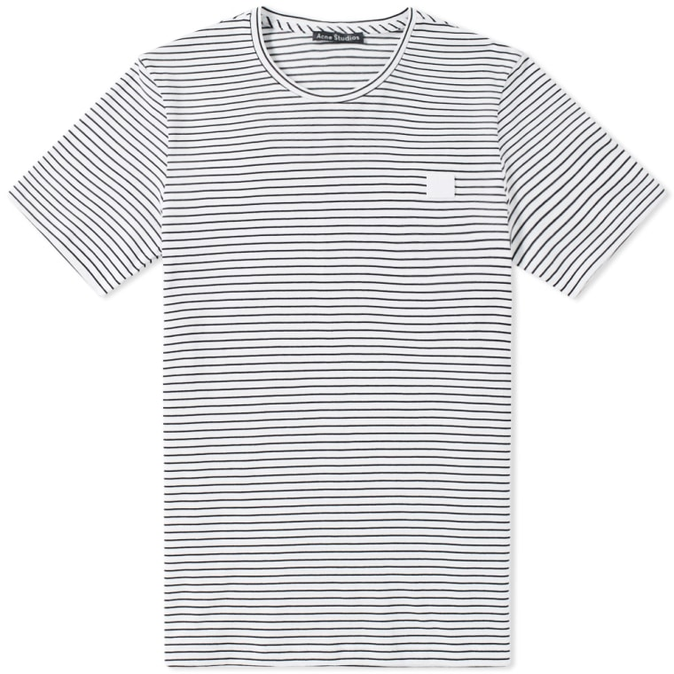 White and Black Nele Face T-Shirt Acne Studios Outlet Sale Online All Seasons Available Buy Cheap New Styles k0f6K