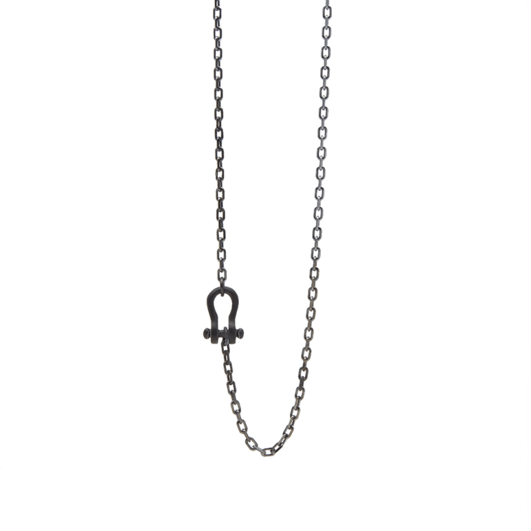 Saint Laurent Necklaces, Oxidised Silver, Silver, 2017, One Size