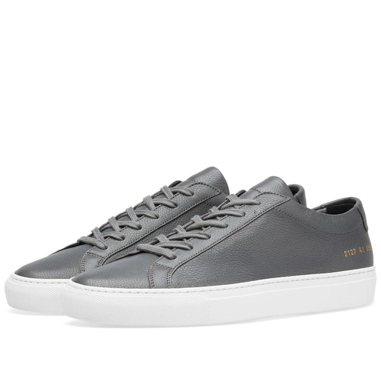 COMMON PROJECTS Grey & Original Achilles Low Premium Sneakers U748F5yT