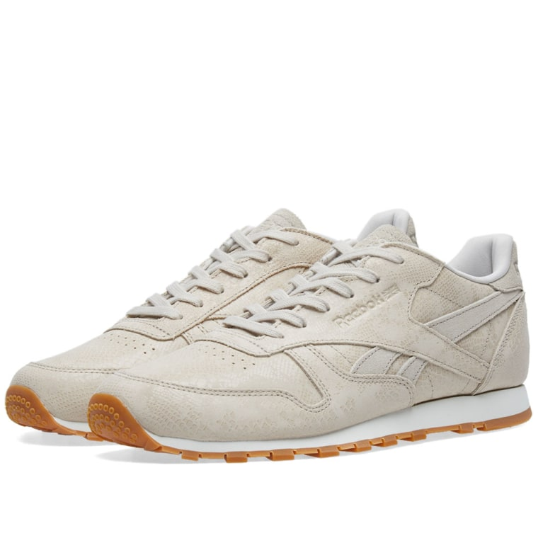 Reebok Cl Leather Clean Exoctics W Lo Sneaker Schuhe stucco bH4S5Ef