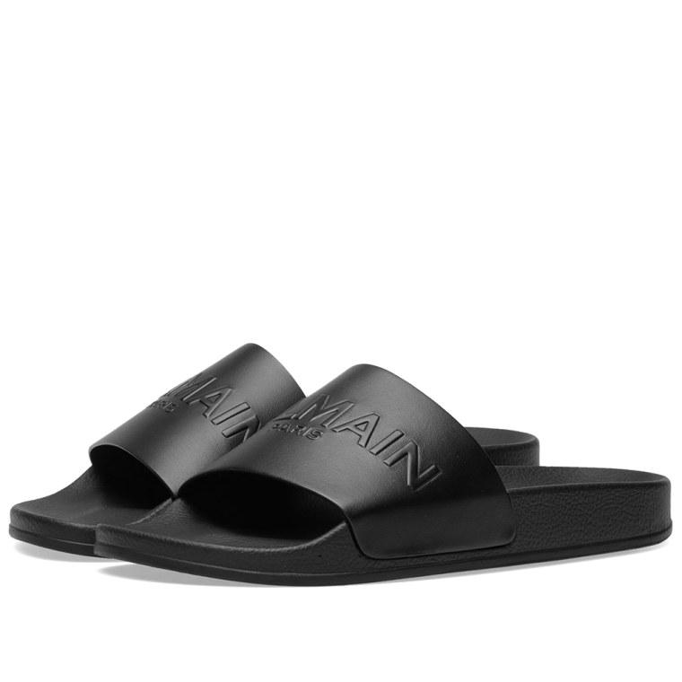 Balmain Leather slides discount the cheapest ys9w6LK