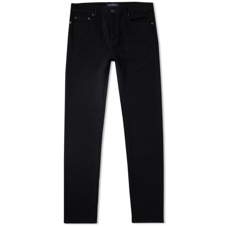 Rockstud slim-fit jeans - Black Valentino Cheap Sale High Quality 7ubLbDh