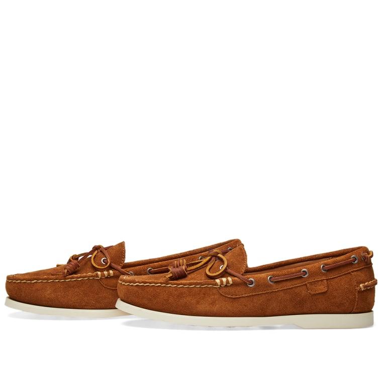 Polo Ralph Lauren Slip Suède Millard Chaussures Bateau À Tan - Tabac rHdKJPi