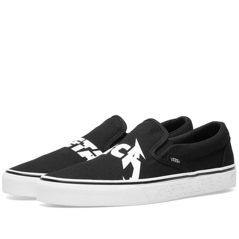 Vans Classic Slip-On x Metallica Schuhe Black/White Umi3HS7I