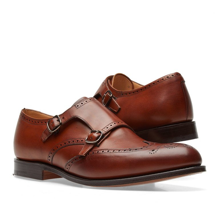 Monk Strap Shoes for Men On Sale, Burgundy, Leather, 2017, 10 9 Churchs