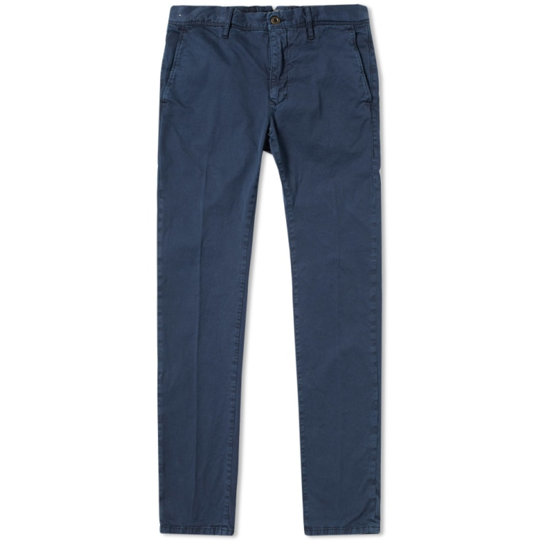 Chinos Slacks dark blue Incotex AkJznKPBfV