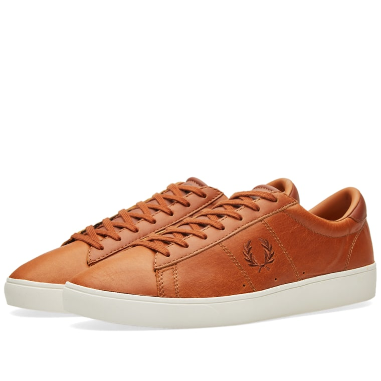 Fred Perry Spencer Leather Tan 46 PAYX26U