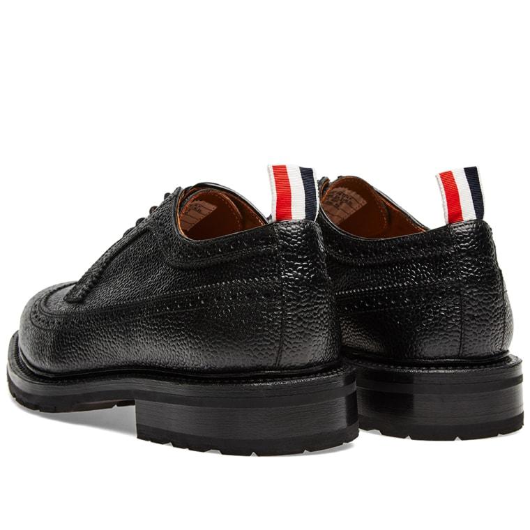 YEEZY Black Longwing Brogue Heels
