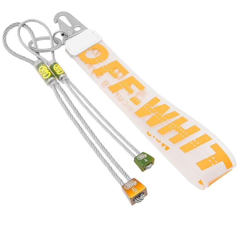 Off-white industrial logo keyring - Yellow & Orange UvmUc