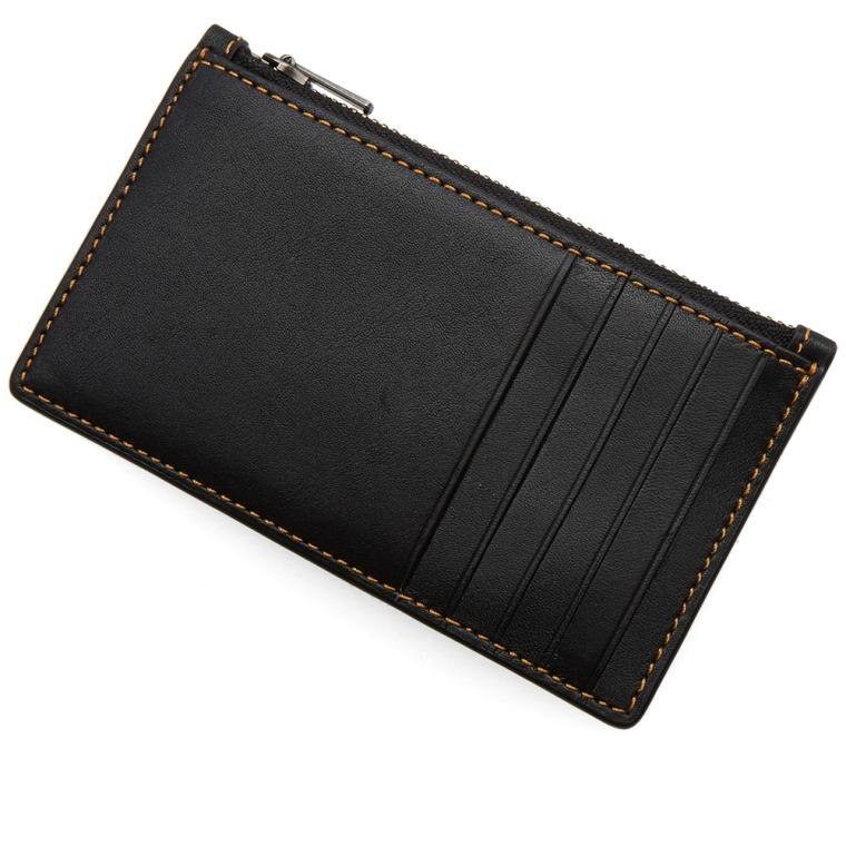 zipped card holder - Black Coach WwSNnN