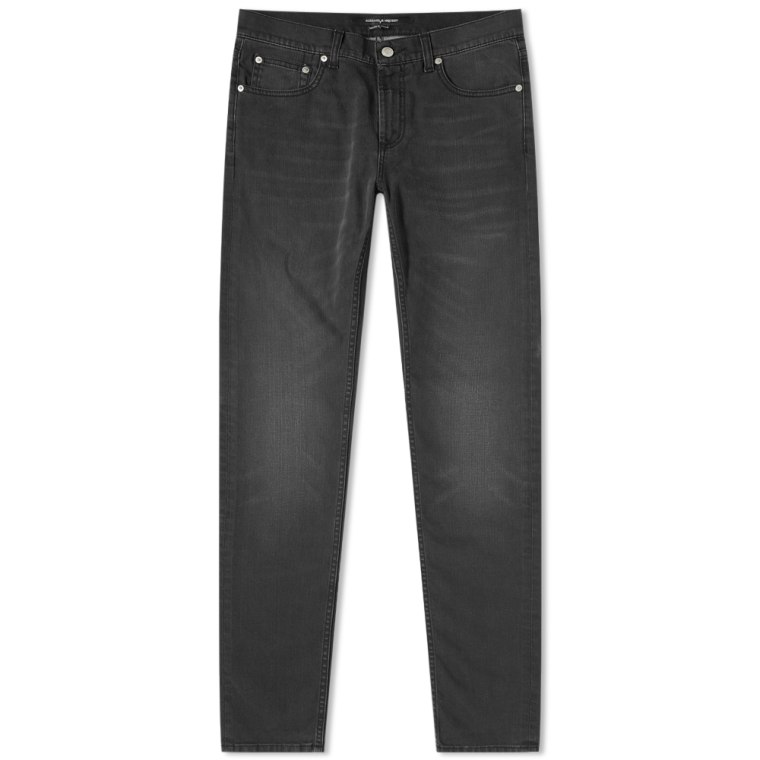 embroidered jeans - Black Alexander McQueen I07NhCnz
