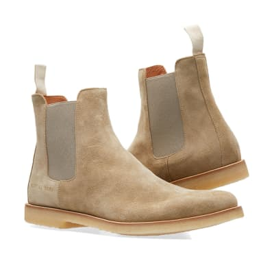 Boots for Men, Booties On Sale, Light Sand Beige, Suede leather, 2017, 5.5 6.5 Common Projects
