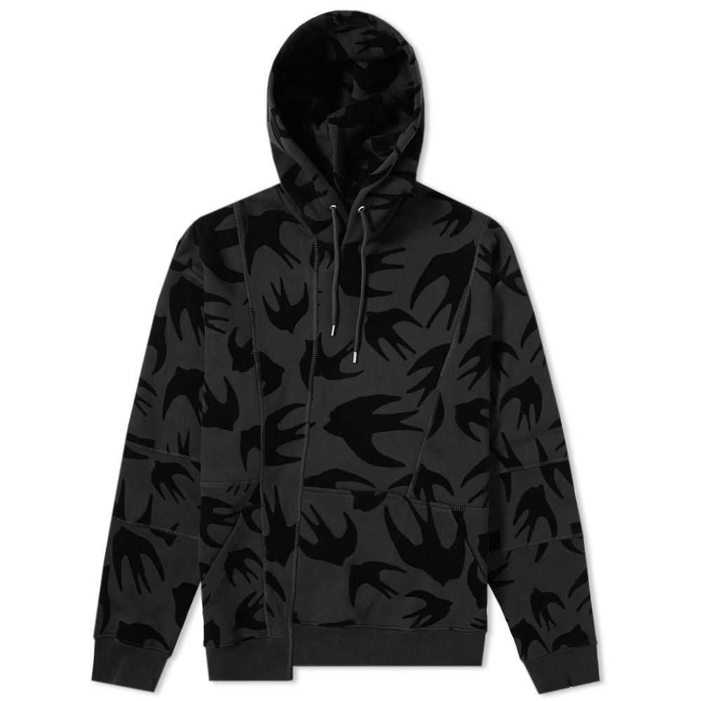 By Mcqueen Swarm End Black Swallow Hoody Mcq Alexander fwPaxHH