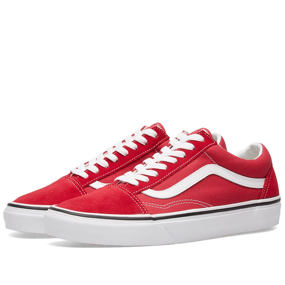 Crimsonamp; Vans True WhiteEnd Old Skool w0POnk8