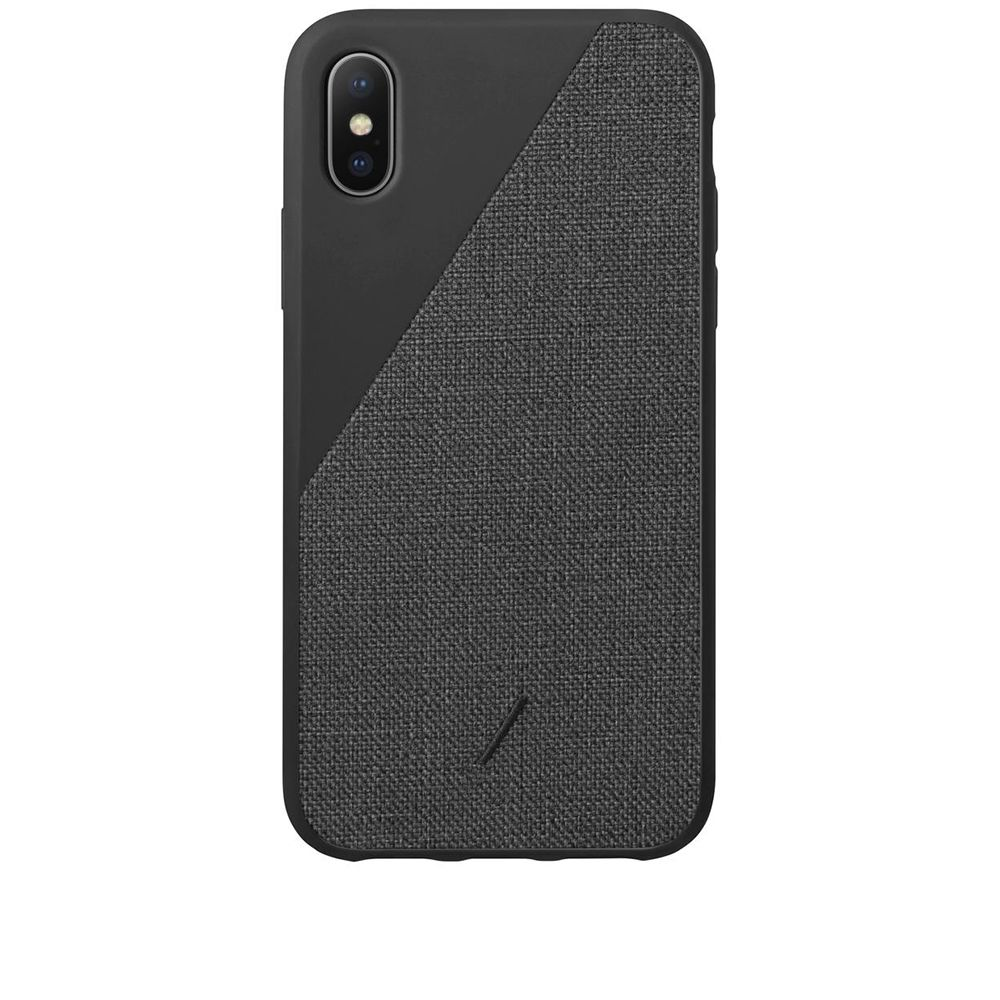 Max Black Canvas Case Union Clic End Iphone Xs Native CwBFqXx