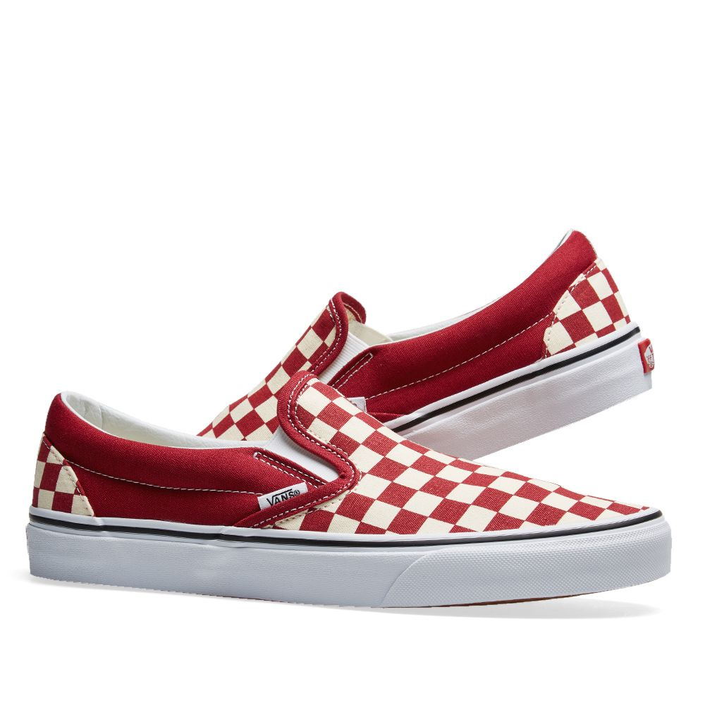 Slide Checkerboard Vans Sandals Rumba amp; Red White fzzgwXq