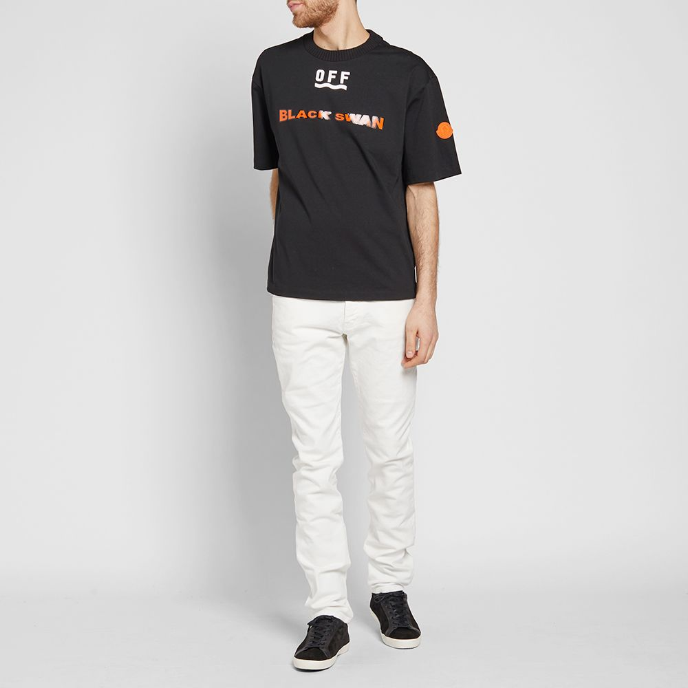 Tee Black End White Off X Moncler Swan 71RfqXBw