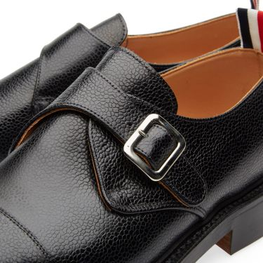 Strap Thom Single Black Shoe Pebble Browne Monk GrainEnd txBhCsQrd